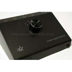 Aux Input switch-box for multiple input devices to one Aux socket (3-way)