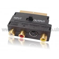 SCART Adapter block (RCA, S-Video), Gold pins